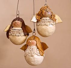 Paper clay angels