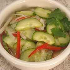 thai cucumber salad  (a reviewer adds mint, Thai basil, and lime juice)