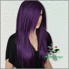 Try out a crazy hair color! Like purple hair. Love Hair, Great Hair, Gorgeous Hair, Awesome Hair, Wig Styles, Long Hair Styles, Beauty And Fashion, Hair Color Purple, Hair Colors