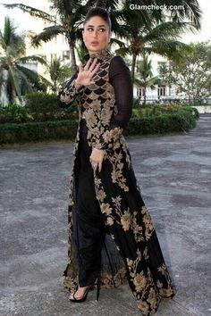 Long open front salwar