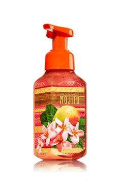 Wild Mango Mojito - Gentle Foaming Hand Soap - Bath & Body Works - Our Gentle Foaming Hand Soap delivers a cloud of luxurious foam that transforms into a rich, creamy lather to gently wash away dirt and germs, while soothing Aloe and nourishing Vitamin E leave hands feeling soft, smooth and lightly scented!