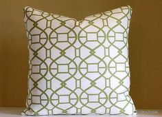 Fresh and chic and featuring a modern green trellis these luxury pillow covers will help you create a cozy space in your home for friends and family.