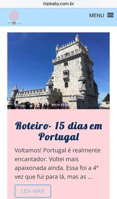 Tem post novo no blog. Nosso roteiro de 15 dias em Portugal. Vale a pena conferir.