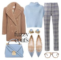"""""""Teddy bear coat"""" by giotibi ❤ liked on Polyvore featuring Off-White, Carven, Jil Sander, Mark Cross, Valentino, Bounkit, Forever 21 and fuzzycoats"""