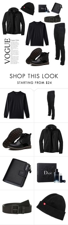 """Untitled #85"" by look-like-good ❤ liked on Polyvore featuring Lands' End, Versace, Outdoor Research, Christian Dior, Calvin Klein, New Balance, men's fashion and menswear"
