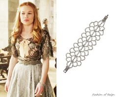 In the twentieth episode Greer wears this sold out RJ Graziano Rhinestone Lace Bracelet. Worn with Anthropologie belt.