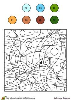 Risultati immagini per coloriage magique addition Kids Math Worksheets, Math Activities, Colouring Pages, Coloring Books, Diy Name Tags, Math Projects, Color By Numbers, Number Games, Basic Math