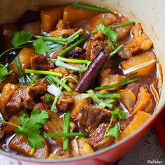 Cantonese Braised Beef Brisket with Daikon