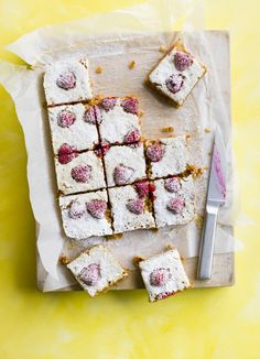 Raspberry and lemon flapjacks: Flapjacks make the best after-school or mid-afternoon treat. With a delicious layer of raspberries these oat bars are sure to be a hit with friends and family.