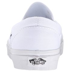 Vans Classic Slip-Ontm Core Classics (True White (Canvas)) Shoes ($50) ❤ liked on Polyvore featuring shoes, slip on deck shoes, white canvas shoes, slip on shoes, canvas deck shoes and sperry top-sider shoes