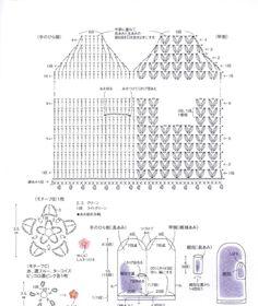 from Pretty color crochet goods 4 Crochet Mittens Pattern, Crochet Gloves, Crochet Diagram, Crochet Chart, Crochet Stitches, Crochet Patterns, Crochet Doilies, Crochet Lace, Free Crochet