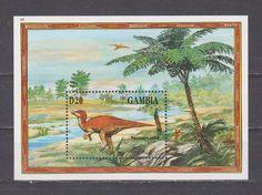 Gambia 1994 prehistoric animals dinosaurs fauna nice s/s MNH