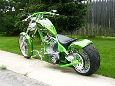 My next bike will look like this.  My favorite color is green.  I still miss my copper chopper but this one is pretty cool