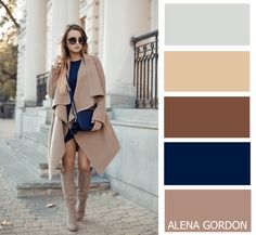 beige and royal blue