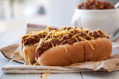 Beer Chili Hot Dog - perfect with either Ninkasi IPA