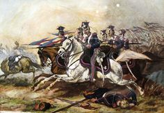 Charge of Poznań Cavalery during November Uprising - Lancer - Wikipedia, the free encyclopedia Napoleon Waterloo, Battle Of Waterloo, Military Art, Military History, Lead Adventure, Poland History, Napoleonic Wars, Types Of Art, November