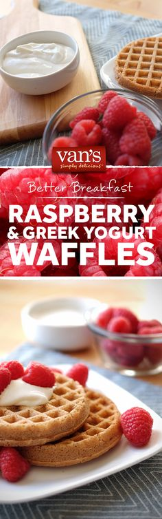 Sometime simple is the most satisfying. Raspberries and Greek yogurt make for a great combo on top of Van's waffles!