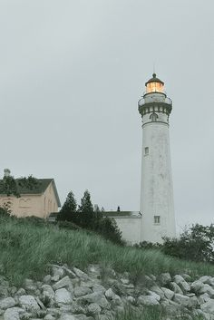 South Manitou Island Lighthouse [South Manitou Island Lighthouse is located on South Manitou Island in Lake Michigan, 16 miles west of Leland, Michigan. It is in Leelanau County in western Northern Michigan. Built 1840.]