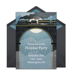 free christmas train invitations