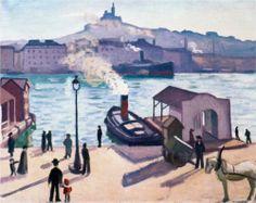Albert Marquet (1875  - 1947)  un cheval à Marseille - 1916