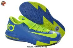 best loved e5f80 7d00a Nike zoom kd 6 sprite royal blue volt shoes are cheap sale on our website.  Get the cool colorway kd 6 sprite shoes for yourself now!