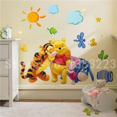 Superb Winnie Pooh Messlatte f r das Kinderzimmer Wandtattoo Winnie Pooh Kinderzimmer Pinterest Growth charts Roommate and Wall decals