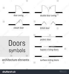Floorplans Door And Window Symbols Architectural