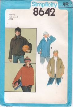Vintage Sewing Pattern for Womans Mens Zipper Jacket Simplicity Pattern 8642 1978 Men's chest 36 Miss Size 6 8 10 12 14 16 FF UNCUT by LanetzLiving on Etsy Mens Sewing Patterns, Mccalls Patterns, Simplicity Sewing Patterns, Doll Clothes Patterns, Clothing Patterns, Doll Wardrobe, Fabric Flowers, Vintage Men, Unisex