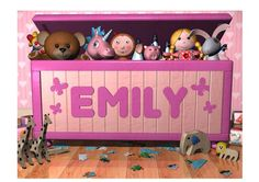 Girls toy box nursery wall art picture by IbbleArt on Etsy, £19.99