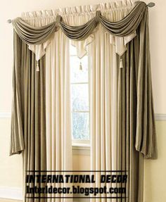 Top Catalog of Classic Curtains Designs, Models, Colors in 2013 Más Elegant Curtains, Curtain Decor, Curtains Living Room, Window Decor, Curtains, Drapes Curtains, Curtains And Draperies, Home Curtains, Classic Curtains