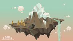 Low poly mountain by MeliYensen.deviantart.com on @DeviantArt