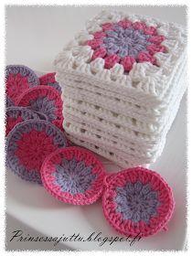 Prinsessajuttu: Välipaloja Crochet Mandala, Crochet Art, Crochet Hooks, Gorgeous Grannies, Fun Diy Crafts, Crochet World, Crochet Squares, Couture, Crochet Projects