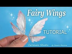 OOAK Fairy Wings Tutorial - Come fare ali per Fatine Diy Fairy Wings, Diy Wings, Polymer Clay Fairy, Polymer Clay Dolls, Clay Fairies, Flower Fairies, Wings Tutorial, Art Doll Tutorial, Fairy Crafts