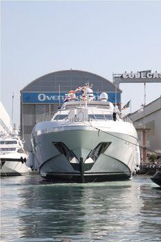 Mangusta 165 superyacht - hull 7 - at her launch in Viareggio