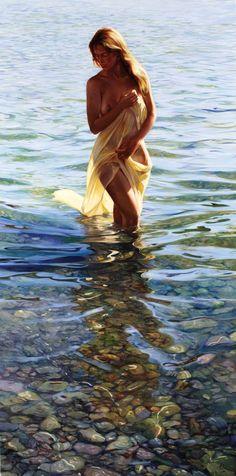 """artbeautypaintings: """"Damunt les pedres del mar - Lluis Ribas """""""