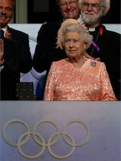 Queen Elizabeth II attends the Opening Ceremony of the London 2012 Olympic Games at the Olympic Stadium on 27 July2012.