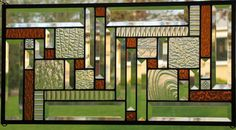 Clear and Gold Stunner Stained Glass Window Panel on Etsy, $95.00