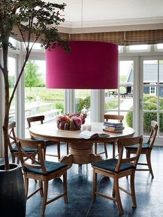 Love the light #diningroom tables, chairs, chandeliers, pendant light, ceiling design, wallpaper, mirrors, window treatments, flooring, #interiordesign banquette dining, breakfast table, round dining table, #decorating
