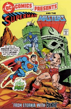 A DC crossover with Superman and He-Man… with a play on the title of a classic Bond film. Awesome! He could die!