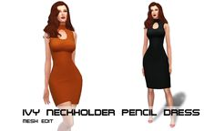 Sims 4 CC's - The Best: Dress by Porcelain Warehouse