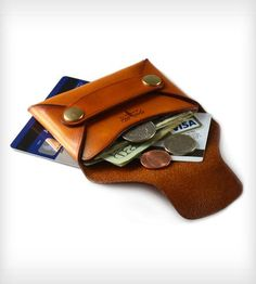 Small Stitchless Leather Rivet Wallet    This stitchless riveted wallet is perfect for holding credit c...   Handbag & Wallet Accessories