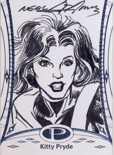 2014 Marvel Premier Base Sketch Card Neal Adams (yes, that one!) Kitty Pryde #20