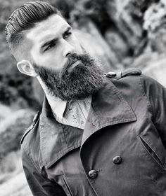 dark full thick beard beards bearded man men stylish style undercut