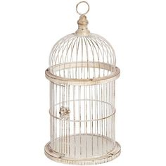 White Decorative Antique Style Birdcage Lantern Holder Home Interior Accessory