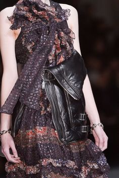 #ruffle #bow #dress #Givenchy Fall 2013 - Details #fashion #chic #style #luxe Collectioneight.com/blog/