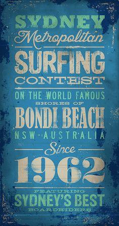 Sydney Metropolitan Surfing Contest - Bondi Beach - Canvas Print - The Turnstyle Print Company Surf Posters, Beach Canvas, Bondi Beach, Social Media Pages, Printing Companies, Canvas Ideas, Sydney, Surfing, Custom Design