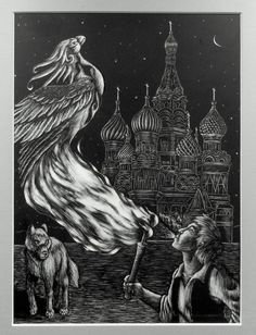 Ivan Tsarevitch, The Fire Bird and The Grey Wolf by Nights-Eyes on DeviantArt