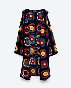 Image 8 of LIMITED EDITION CROCHET COAT WITH HOOD from Zara