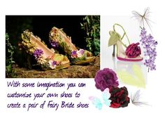 """""""DIY Fairy Bride Shoes"""" by weddingdesignchic-com ❤ liked on Polyvore featuring Gucci, Alessandra Rich, claire's, Laura Cole, women's clothing, women, female, woman, misses and juniors"""