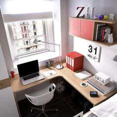 For a small space, this office is perfectly set up.